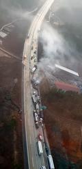 상주-영천고속도로. 교통사고 이은 차량 화재로 양방향 마비