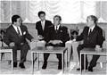 나카소네 일본 총리 예방하는 구자경 회장