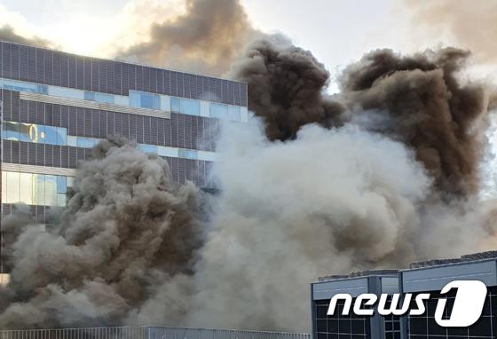 일산 여성병원에서 화재