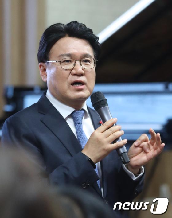 인사말 하는 황운하 대전지방경찰청장
