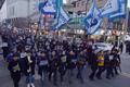 광주 도심 행진하는 '5·18망언' 규탄 집회 참석자