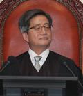 생각에 잠긴 김명수 대법원장