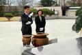 현충탑 참배하는 하유성 38대 광주보훈청장