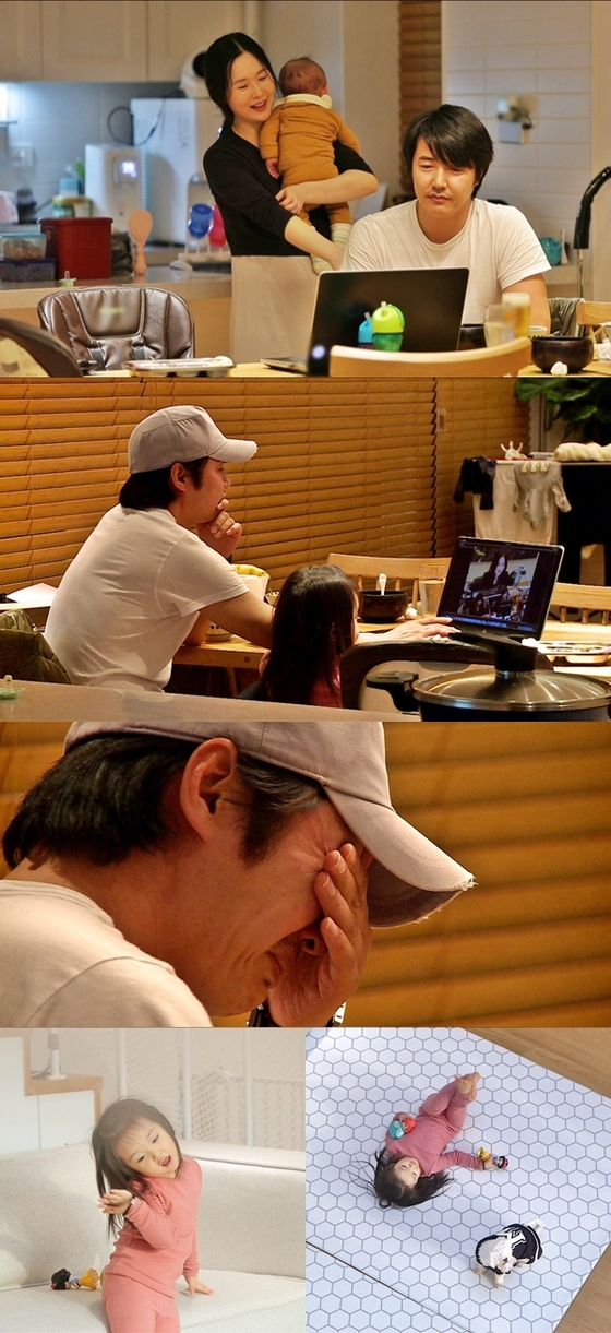 [N컷] '동상이몽2' 윤상현, 메이비 전성기 시절 모습에 폭풍 눈물