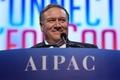 [사진] 미-이스라엘 공공정책위 콘퍼런스서 연설하는 폼페이오