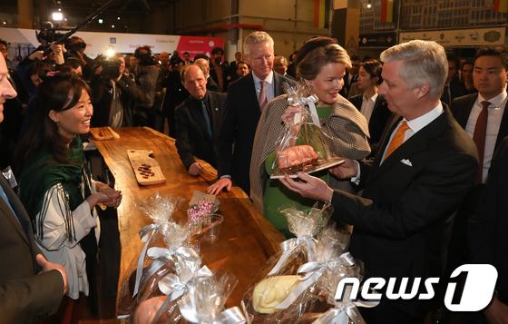 필립 벨기에 국왕 부부,  벨지안 라이프 페스티벌 방문