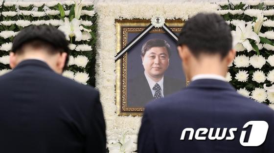 \'故 김홍일 전 의원을 기리며\'