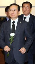 고 김홍일 전 의원 빈소찾은 홍영표 원내대표