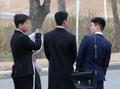 북·러 정상회담장 찾은 北 유학생들