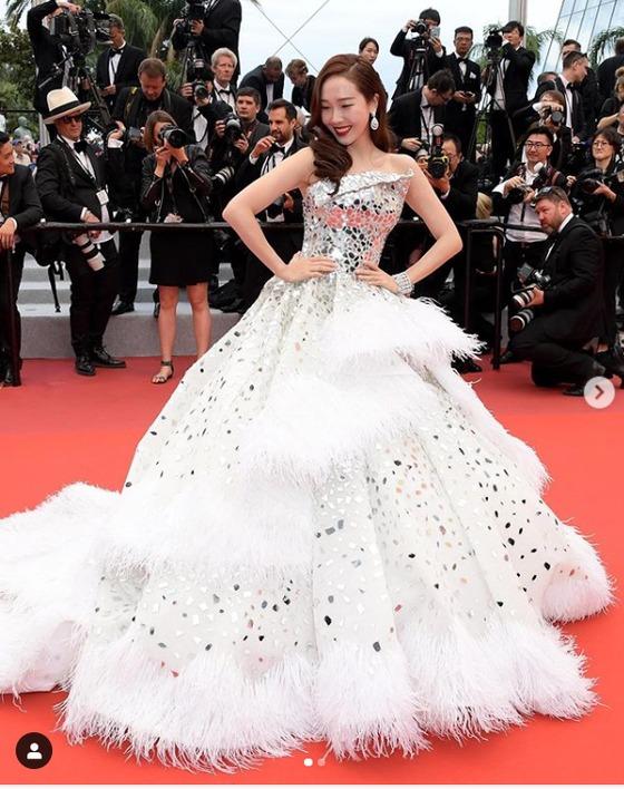 제시카, 칸영화제 레드카펫 빛낸 韓스타…
