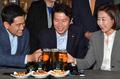 여야 3당 교섭단체 원내대표 '맥주회동'