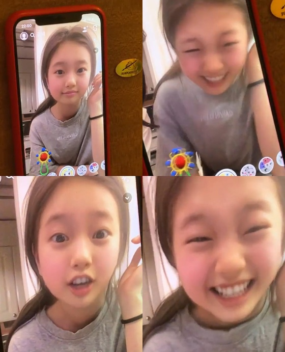 "[N샷] ""혹시 수지 딸?"" 수지, 아기얼굴 앱으로 찰칵 '깜찍'"