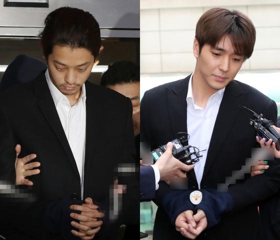 """[N현장] 정준영·최종훈, 집단 성폭행 혐의 부인 """"모의한 적 없어""""(종합)"""