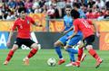 강한 압박 펼치는 대표팀
