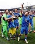 우승의 기쁨 즐기는 우크라이나 선수들