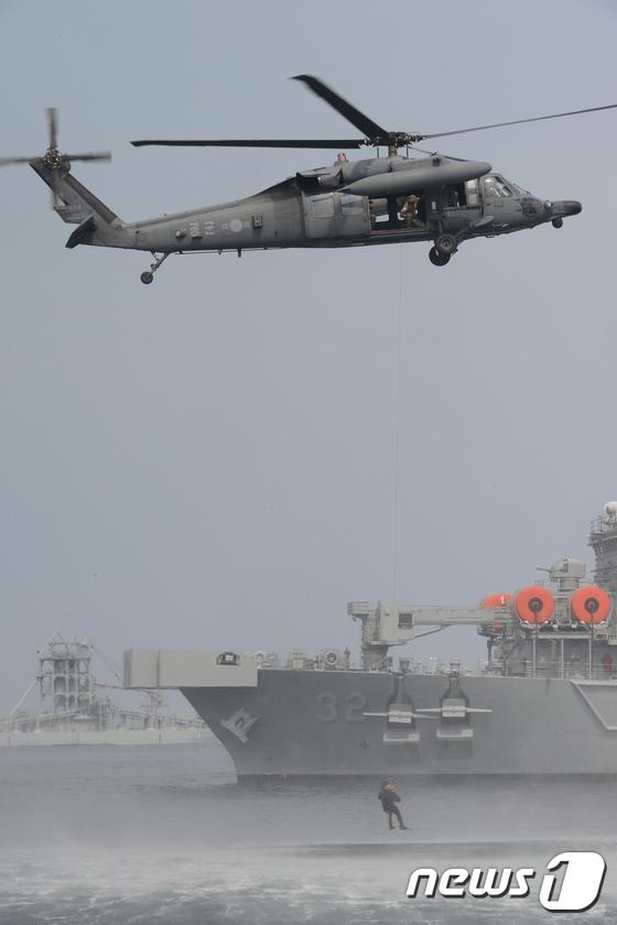 공군 수송기를 활용한 구조 훈련
