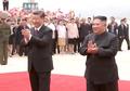 김정은 위원장, 시진핑 주석 영접
