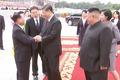 최룡해 제1부위원장과 인사하는 시진핑 주석