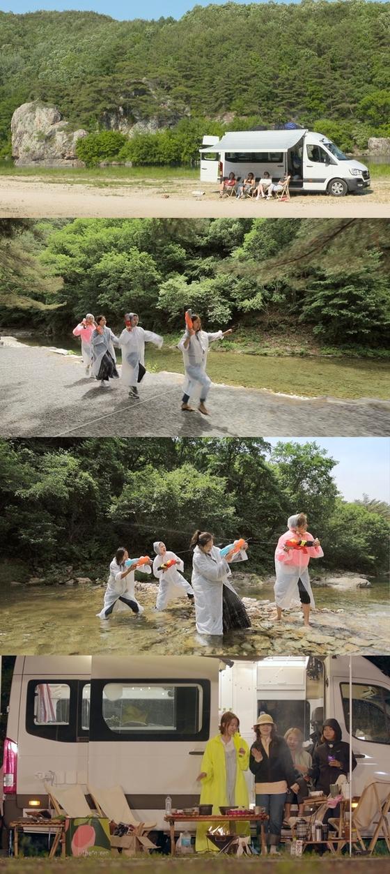 [N컷] '캠핑클럽' 핑클 '깨방정' 여행 공개…7월14일 첫방 日예능 확정