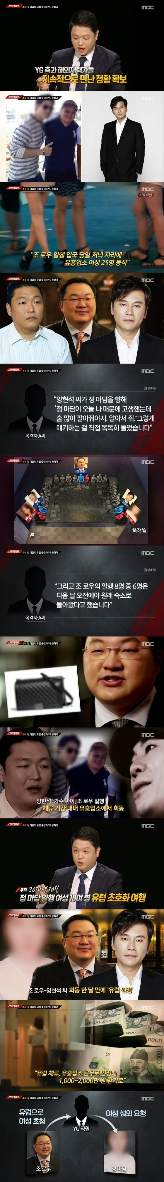 """'스트레이트', YG·조로우·정마담 '성접대 의혹' 또 다뤘다…""""사업 목적"""" 주장(종합)"""