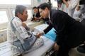 황교안 대표 '보훈병원 방문해 참전용사 위로'