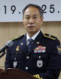 취임사하는 박희용 초대 세종지방경찰청장