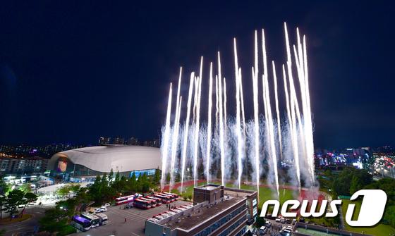 광주세계수영선수권대회 개막식 축포
