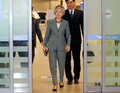 강경화 외교부 장관, 아프리카 3개국 순방 마치고 귀국