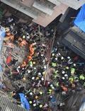 [사진] 폭우로 印 뭄바이 100년된 4층 건물 폭삭 무너져
