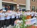'일본제품 불매' 운동 나선 광덕고 학생들