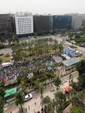 국회 앞에서 총파업 대회 갖는 민주노총