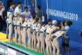 한국 여자 수구 '응원 감사합니다'