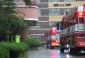 화재 발생 확성기 방송에 학교로 출동한 소방차