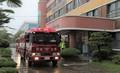 학교 화재 방송에 출동한 소방차