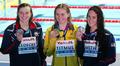 미국 선수들 사이에서 금메달 획득한 티트머스
