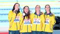 호주, 여자 계영 400m 금메달