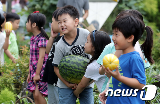 꼬마 농부들의 농작물 수확체험