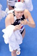 울음 터뜨린 여자 수구대표 김예진