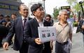 '日 대사관에 항의문 전달 위해'