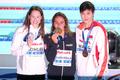 여자 1500m 자유형 '메달 미소'