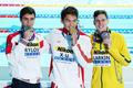 함께 메달 세리머니하는 중국과 호주 '우린 사이 좋아요'