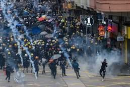 홍콩 반정부 시위 현장