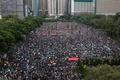 홍콩에서 열린 송환법 반대-경찰 강경 진압 규탄 대규모 집회