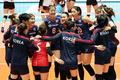 홍콩에 승리거둔 한국 여자배구 대표팀