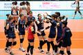 한국 여자배구 '홍콩에 3대 0승리'