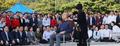 청와대 앞에서 삭발식 거행한 황교안 대표