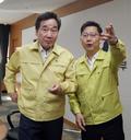 대화나누는 이낙연 총리와 김현수 농식품부 장관