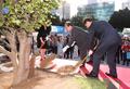 부산 유라시아 플랫폼 개관식 기념식수