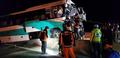 중앙고속도로 버스와 트럭 충돌로 16명 부상