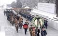 '항일 빨치산' 황순희 장례식 진행하는 북한